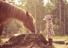 horse & little girl