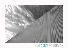 metal, lines, vertical, sky, contrast, black, Tony Koukos, Koukos