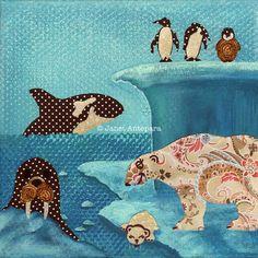 Arctic Wonderland 10x10 12x12 and 20x20 by JanetAnteparaDesigns, $20.00
