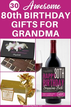 80th Birthday Gift Ideas For Grandma