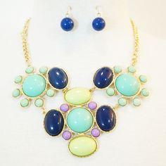 Bubble Bib Statement Necklace & Earrings Set