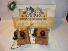 Vintage 1950s Roy Rogers Western Phones