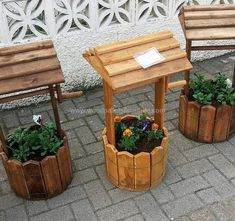 pallet projects 40 Easy Ideas for Pallet Recycling is part of Pallet diy - Everything that is created by hand and that requires time, effort and energy is praiseworthy A handmade item Recycled Pallet Furniture, Wooden Pallet Projects, Pallet Crafts, Recycled Pallets, Wooden Pallets, Pallet Ideas, Pallet Wood, Wood Pallet Recycling, Pallet Designs