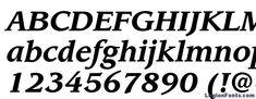 Itc leawood lt bold italic Font
