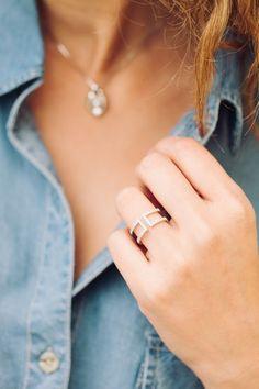 a modern diamond ring