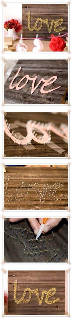 Super cute love thread art
