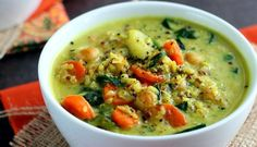 Chickpea & Vegetable Coconut Curry Soup