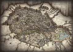 Fantasy Cartography by Mike Schley | I Want this map Its from one of my favorite authors | RA Salvatore
