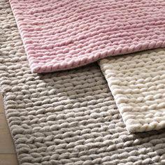 Tapis en pure laine, effet maille tressée, 3 tailles, Diano La Redoute Interieurs