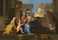 The Holy Family on the Steps