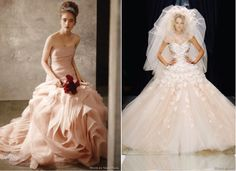 {Wedding Trends} : Blush Wedding Dresses - Belle the Magazine . The Wedding Blog For The Sophisticated Bride