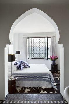 orientalisches design schlafzimmer bett originelle architektur
