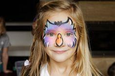 owl face paint Owl Face Paint, Art Work, Halloween Costumes, Birds, Children, Makeup, Painting, Ideas, Artwork