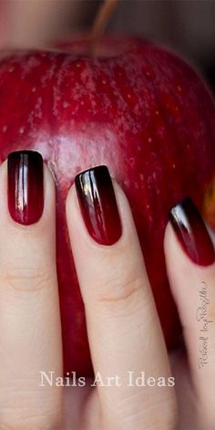 Black And Red Nail Designs Picture red to black ombre nails nails nail designs red black nails Black And Red Nail Designs. Here is Black And Red Nail Designs Picture for you. Black And Red Nail Designs black and red nails with pearls acrylic ros. Black Ombre Nails, Red Nails, Dark Ombre, Dark Red, Gradient Nails, Acrylic Nails, Black Cherry Nails, Snow White Nails, Dark Gel Nails