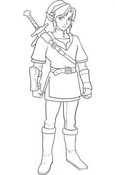Free Printable Zelda Coloring Pages For Kids | Free printable, Free ...
