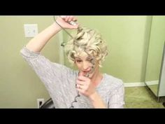 How to Curl Short hair // Curly Hair Youtube Tutorial - YouTube
