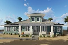 HOUSE PLAN 963-00150 – This super attractive Coastal Cottage features great exterior design elements with the choice of a slab, crawl space or basement foundation. There are approximately 2,526 square feet of living space with four bedrooms and two plus baths in the interior layout.