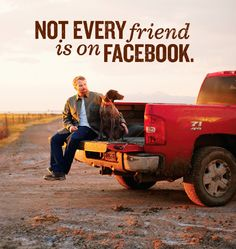 Not every friend is on Facebook - My truck and my dog is all I need #carquotes #chevytruck #countryquotes