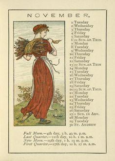 November - Kate Greenaway's Almanack for 1892
