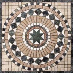 Marmor Naturstein Rosone Einleger Gan 60x60cm