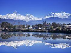 Phewa Lake , Pokhara city, Nepal