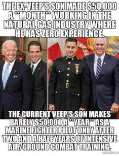 Son of a Vice President Truth Hurts, It Hurts, Liberal Hypocrisy, Socialism, Combat Training, Let That Sink In, Political Quotes, Political Topics, Fighter Pilot