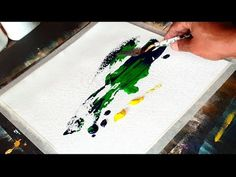 Simple & Easy Abstract painting in Acrylics / project 365 days / Day #08 / Demonstration - YouTube