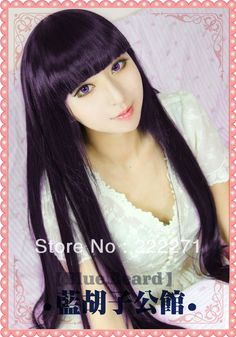 29.99$  Watch more here - http://air03.worlditems.win/all/product.php?id=1451980843 - Free Track Long Mixed Black Purple Full Lace Cosplay Wig Anime Inu Boku SS Shirakiin Ririchiyo Costume Heat Resistant + Cap