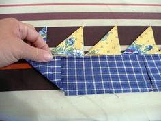 Pieces of Rana's Life: Prairie Points: Two Fabrics