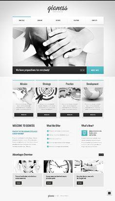 Shades of grey web design