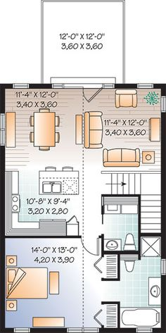 Nice Plan Maison Unifamiliale Avec Logement that you must know, You?re in good company if you?re looking for Plan Maison Unifamiliale Avec Logement Garage Apartment Interior, Garage Apartment Plans, Garage Apartments, Above Garage Apartment, Best House Plans, Small House Plans, House Floor Plans, The Plan, How To Plan