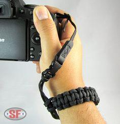 Paracord Survival DSLR Camera Wrist Strap Cobra Weave