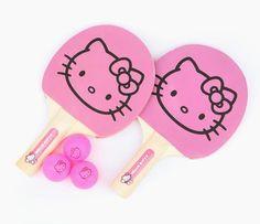 HK |❣| HELLO KITTY Pink Ping Pong Set