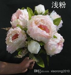 """Wholesale cheap peony bunch online, 9cm/3.54"""" - Find best 45cm/17.72 legnth peony bridal bouquet wedding party table centerpiece home decoration 7pcs silk artificial flower heads/Bush arrangement at discount prices from Chinese decorative flowers & wreaths supplier on DHgate.com."""