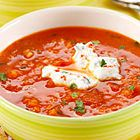 Schwartz recipe for Tomato & Red Lentil Soup, ingredients and recipe ideas for soup and Italian cooking. Visit Schwartz for more recipe ideas. Pork Recipes, Cooking Recipes, Healthy Recipes, Cookbook Recipes, Healthy Food, Ground Pork Meatballs, Gaspacho Recipe, My Favorite Food, Favorite Recipes