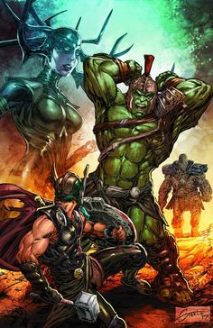 #Hulk #Fan #Art. (THOR Ragnarok - movie) By:Steele67 & Summerset. ÅWESOMENESS!!!™ ÅÅÅ+
