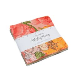 """Blushing Peonies Charm Pack - Robin Pickens for Moda - 5"""" Inch Precut Fabric Squares - Floral Charm Pack - Bright Floral Fabric by Jambearies on Etsy"""
