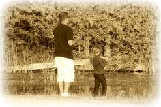 Daddy daughter fishing.   #picmonkey #pinyourlove