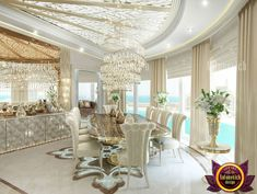 Marble floor from Luxury Antonovich Design is not just a simple interior surface. This is a real work of art of talented craftsmen. Contact us for more information!📞📞📞 50 607 2332 55 999 4994 54 757 9888 4 551 3144 📌📝Send us messages! Exterior Design, Luxury Dining Room, Interior Design Companies, Luxury Exterior Design, Luxury Home Decor, Luxury Decor, Luxury Interior, Gorgeous Flooring, Floor Design