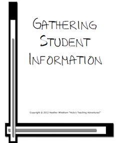 We all need to gather student information at the beginning of the year. Let this FREEBIE make it easier on you!