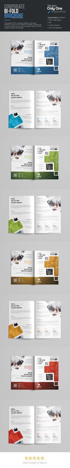 BiFold Brochure — Photoshop PSD #green #web • Download ➝ https://graphicriver.net/item/bifold-brochure/19108937?ref=pxcr