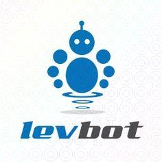 Exclusive Customizable Robot Logo For Sale: Lev Bot   StockLogos.com