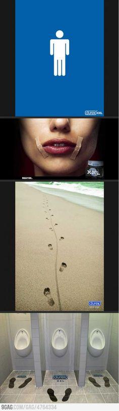 Durex XXL ads are quite amusing..