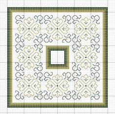 Rainburst Embroidery: Leaf Biscornu