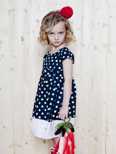 Armani Junior spring 2014 polka dots and solid blue - Fannice Kids Fashion.  Jeanie Ray · must haves 73c676e1c8546