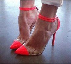 New Fashion Point Toe Pompy Kobiety Sexy Wysokie Obcasy Kostki Klamry Butów Damskich PCV Zapaotos Mujer Party Pompy(China (Mainland))