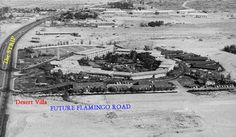 The original Flamingo Hotel.  Hard to believe this is how Vegas once looked...