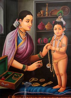 Mother Yashoda Bedecks Krishna