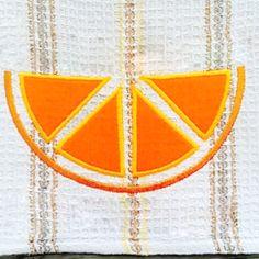 Citrus Slice Applique Embroidery Design