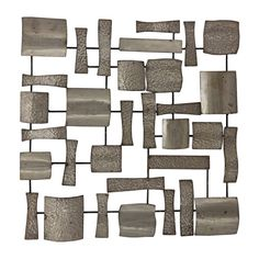 Picture of 28 X Silver Hammer Square Modern Wall Art, Metal Wall Art, Room Wall Decor, Hammered Silver, Stores, Decoration, Great Rooms, Master Bathroom, Interior Design
